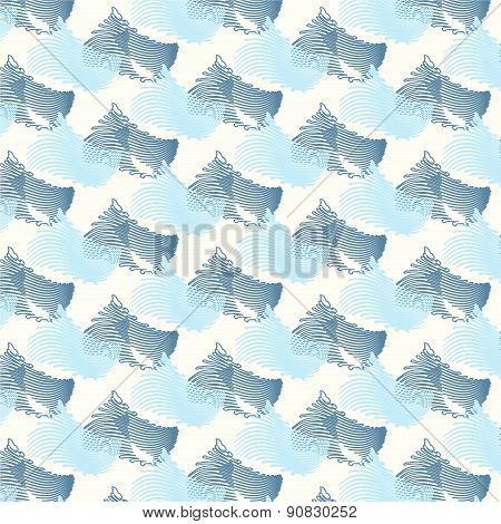 Seamless Pattern Vector Wave Japanese