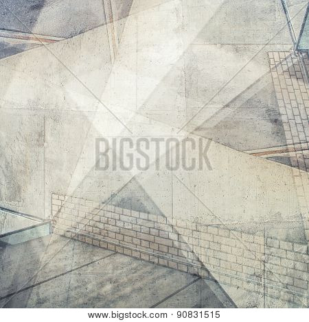 Abstract multi exposure background. Architectural details.