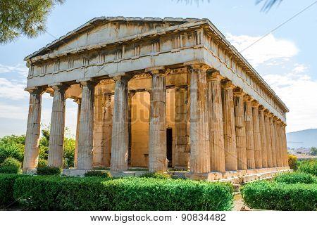 Hephaistos temple in Agora near Acropolis