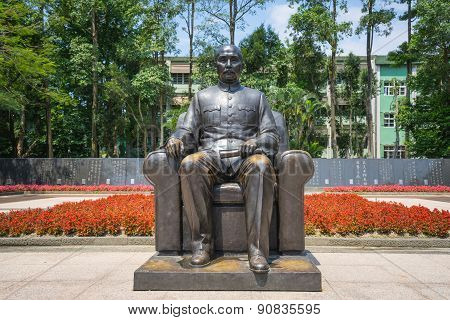 Bronze Statue Of Sun Yat-sen(sunzhongshan) Emplaced In The Memorial Hall In Taipei, Taiwan. Sun (186