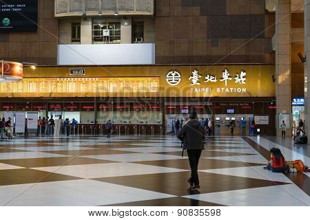 Taipei Station is the main transportation hub for both the city and for northern Taiwan