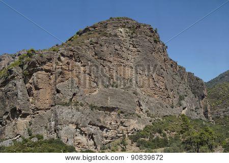 Greece, view of Chelmos mountains