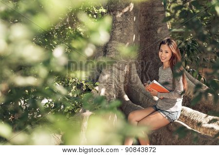 Reading In Forest