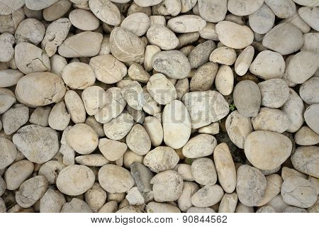 A Background Of Rocks In The Park