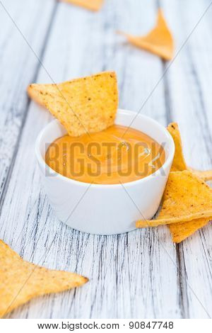Nachos With Cheese Dip
