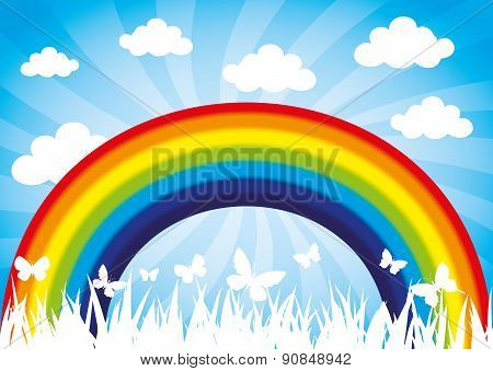 Vector illustration. Rainbow.
