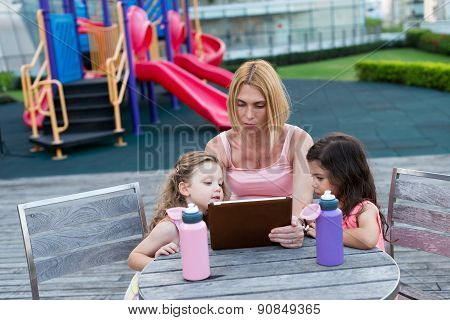 Family With A Tablet