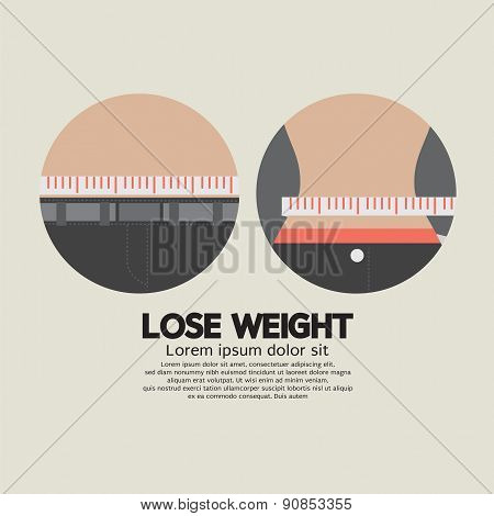 Measure Tapflat Design Lose Weight Healthy Concept Vector Illustratione On Waist Lose Weight Healthy