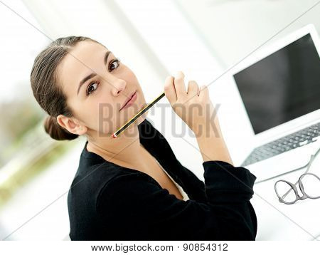Attractive Stylish Young Businesswoman