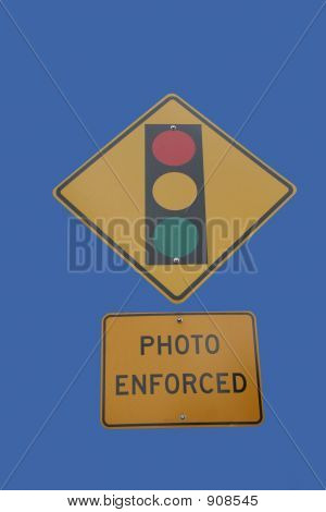 Traffic Lights Photo Enforced Sign