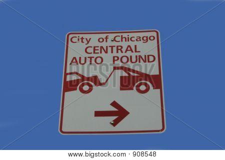 City Auto Pound Sign