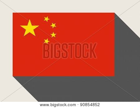 China flag in flat web design style.