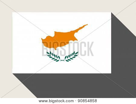 Cyprus flag in flat web design style.