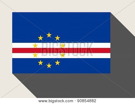Cape Verde flag in flat web design style.