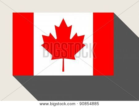Canada flag in flat web design style.