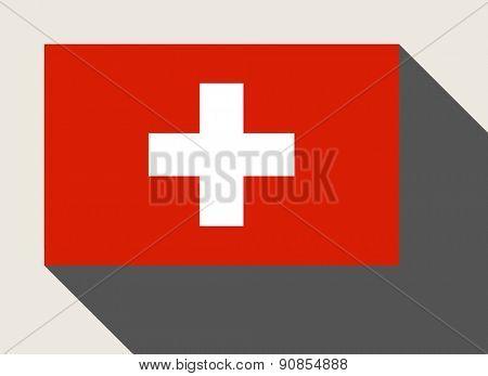 Switzerland flag in flat web design style.