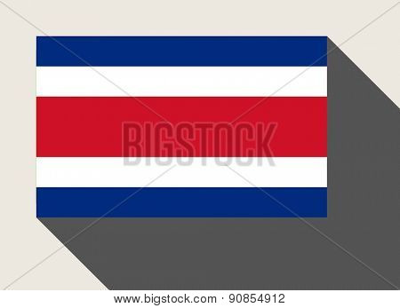 Costa Rica flag in flat web design style.