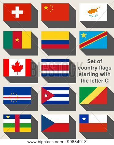 Set of country flags starting with the letter C.