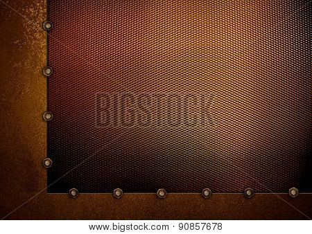 golden mesh background