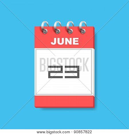 Calendar icon flat art