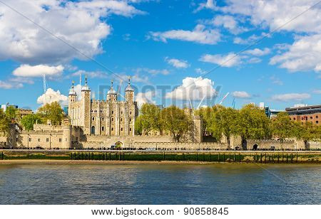 The Tower Of London, A Historic Castle On A Bank Of The Thames
