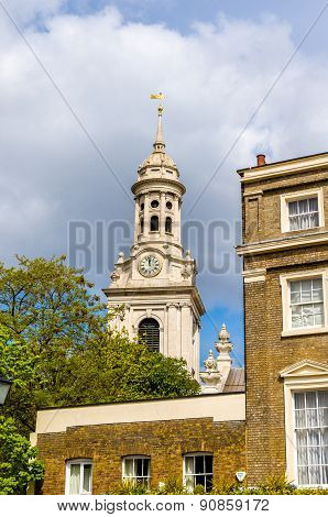 View Of St Alfege Church In Greenwich, London
