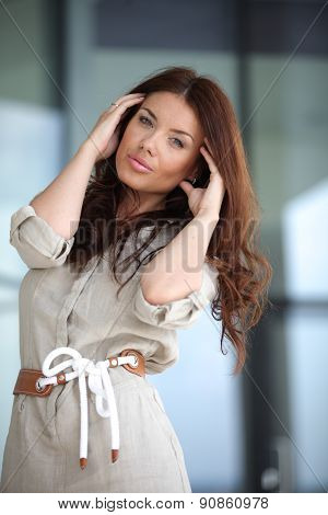 Woman thinking about her problems
