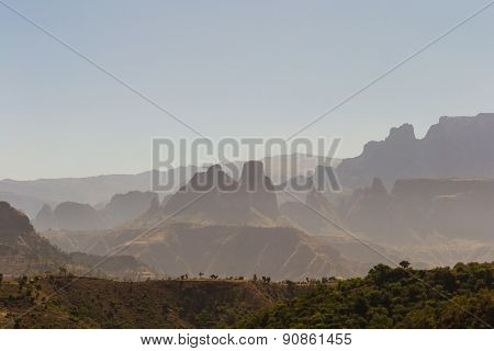 Ethiopian Highlands At Sunrise