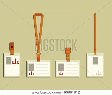 Business management consulting Lanyard, name tag holder and badge templates. Chess Smart solutions d