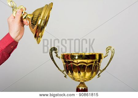 Gold Cup Trophy For Winning The Song Festival
