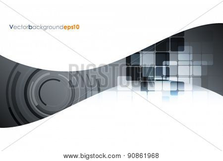 Silver and white vector abstract technology background