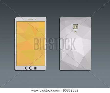 Flat Mobile device and smart phone. Best for management consulting, finance, companies. Unusual and