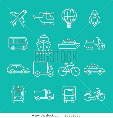 Vector Transportation Icons And Signs