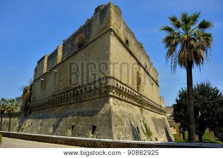Detail swabian Castle of Bari