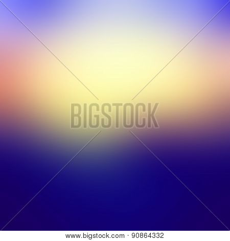 Abstract Blurred Sunset Background