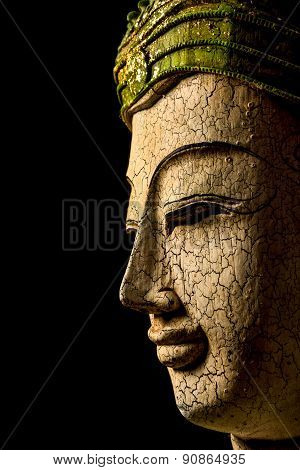 Buddha Portrait On Black Background