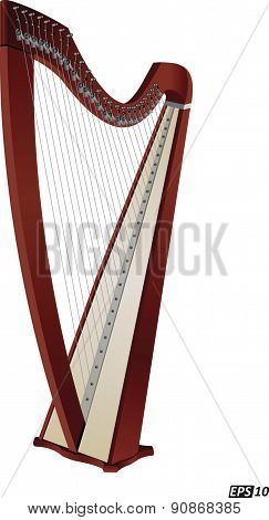 Music: Harp - Illustration