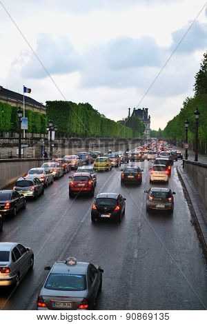 Traffic In Paris.