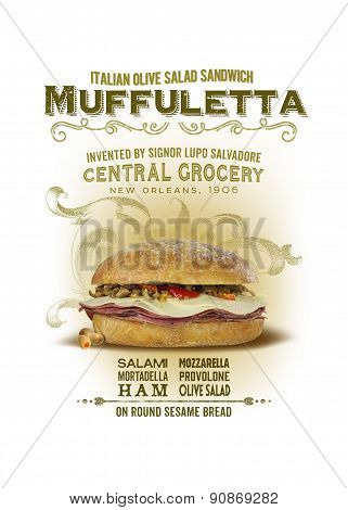 Muffuletta Sandwich NOLA Collection