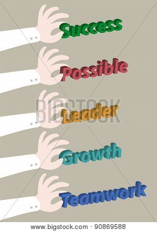 Hand Pick Up Concept Business Wording