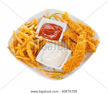 Crispy Strips With Chips