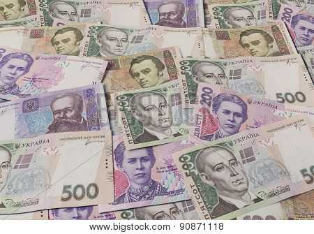 Ukrainian Banknotes Background