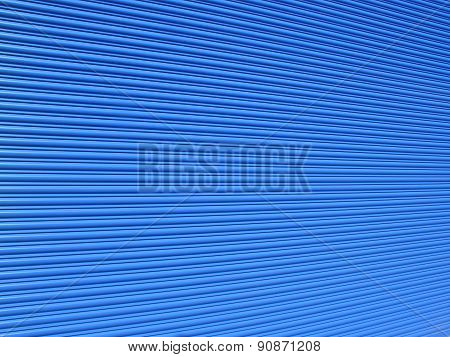 Blue roller shutter
