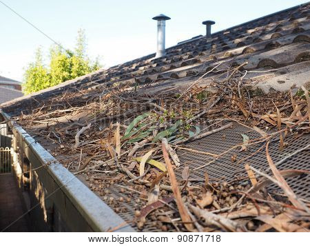 Fire danger in roof gutters