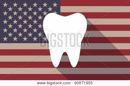 Usa Flag Icon With A Tooth
