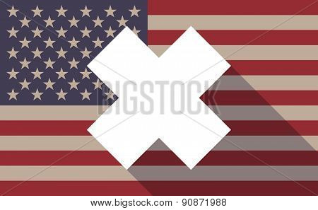 Usa Flag Icon With An Irritating Substance Sign