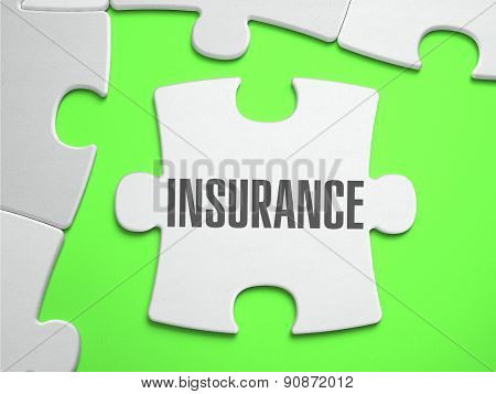Insurance - Jigsaw Puzzle with Missing Pieces.