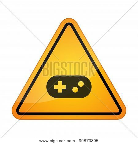 Danger Signal Icon With A Game Pad