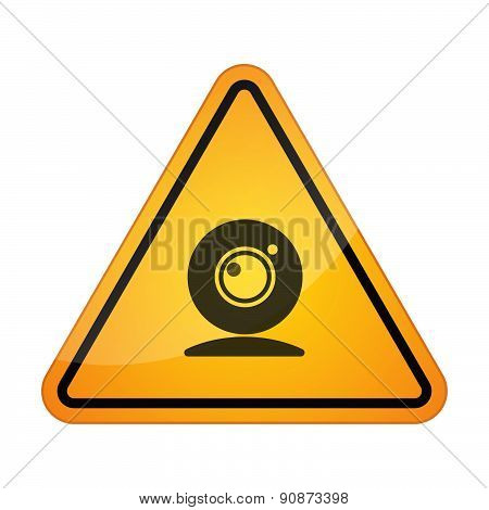 Danger Sign Icon With A Webcam