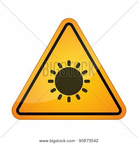 Danger Sign Icon With A Sun